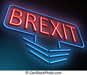 Brexit sign concept. - Illustration depicting an illuminated...