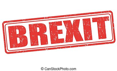 Brexit sign or stamp