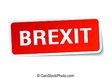 brexit square sticker on white