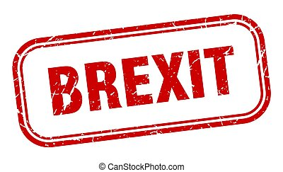 brexit stamp. brexit square grunge red sign
