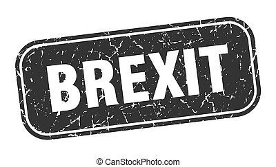 brexit stamp. brexit square grungy black sign