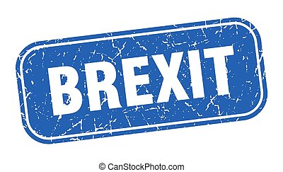 brexit stamp. brexit square grungy blue sign