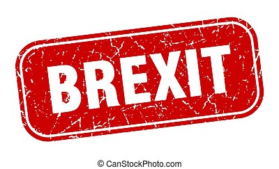 brexit stamp. brexit square grungy red sign