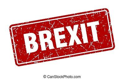 brexit stamp. brexit vintage red label. Sign