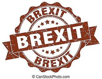 brexit stamp. sign. seal