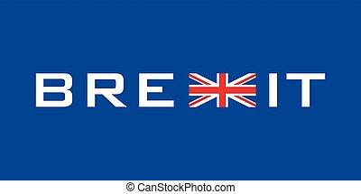 Brexit symbol - typographic symbol concerning brexit with ...
