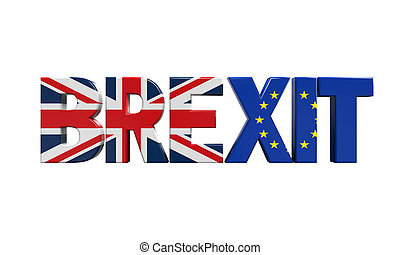 Brexit Text Isolated - Brexit Text isolated on white ...