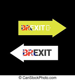 Brexit Text isolated. United Kingdom exit