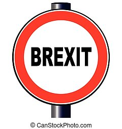 Brexit Traffic Sign