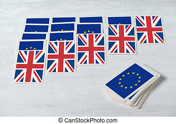 Brexit UK EU referendum will solitaire converge concept, ...