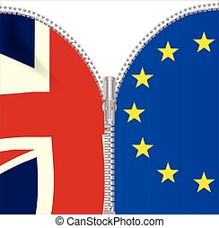 Brexit UK EU Split Zipper