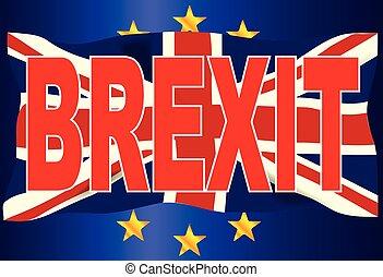 Brexit Union Jack Over EU Flag