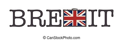 Brexit vector illustration isolated on white background