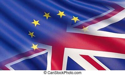brexit, vereinigtes königreich, und, europäische markierung,...