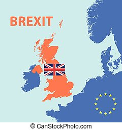 brexit vote out from europe union vector illustration