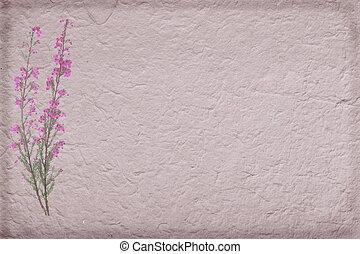 brezo, papel, hechaa mano, plano de fondo