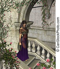 Briar Rose - Woman alone in a fairytale castle full of...