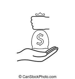 Bribe, bribery, corruption icon. Vector illustration, flat...