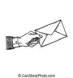Bribe or blackmail concept illustration engraved vintage...