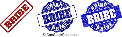 BRIBE Scratched Stamp Seals - BRIBE grunge stamp seals in...