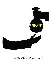 bribery black vector illustration