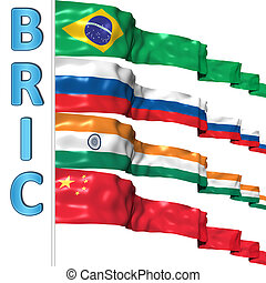 BRIC countries flags
