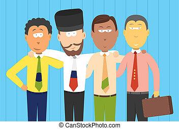 bric, futuro, homens negócios, /, economias