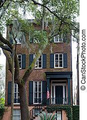 Brick American Townhouse by Oak Tree