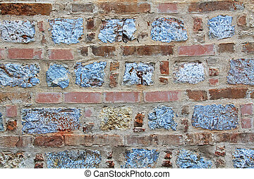 Brick and Stone Background Texture in Athens, Greece