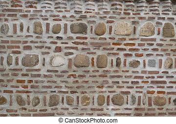 brick and stone masonry wall background