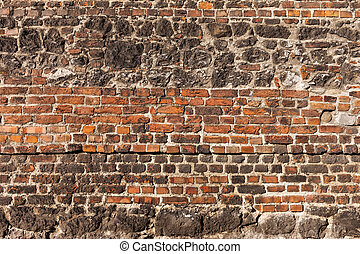Brick And Stone Old Wall Background