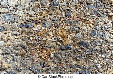 Brick and stone wall detail