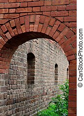 Brick arch at Fort Clinch