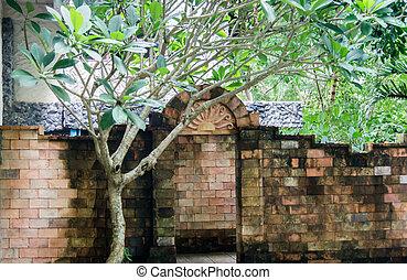 Brick arch in the garden