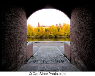 Brick arch tunnel