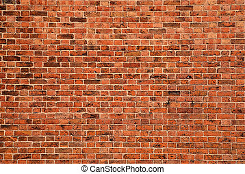 Brick Background - Large expanse of brick wall for...