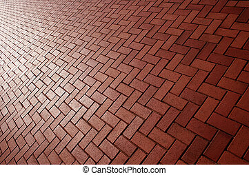 Brick Background - Red brick background on a diagonal slant