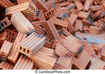 brick block in residential building construction