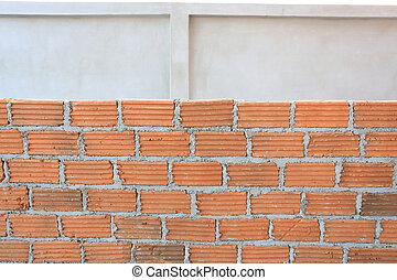 brick block in residential construction site