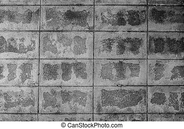 Brick block wall and black and white background