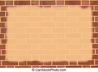 Brick Border With Copy Space - Red brick border with...