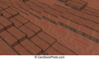 brick boxes rhythm Up and down movement.