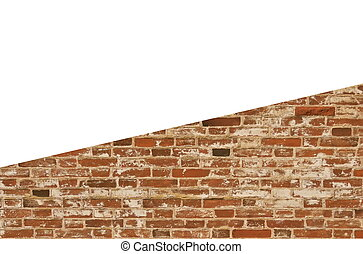 brick brown wall with empty space
