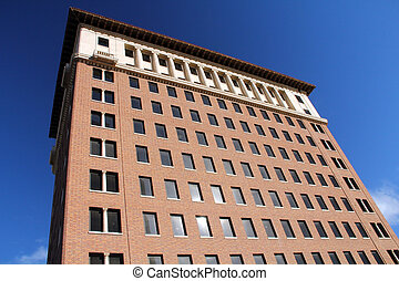 Brick Building - Multistory Brick building in any city...