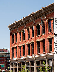 Brick building - Historical building in downtown Denver,...