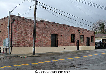 Brick building - Refurbished brick office building, San...