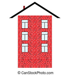 brick building vector illustration