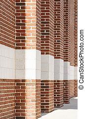 Brick Columns Into the Distance