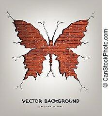 Brick damage butterfly