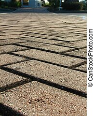 Brick Driveway - Macro shot of a brick driveway/sidewalk. ...